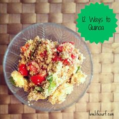 Looking for new, healthy and simple quinoa recipes to add to the mix? Here's 12 Healthy Quinoa Recipes