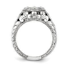 14k White Gold .42ct. Diamond Engagement Ring Mounting