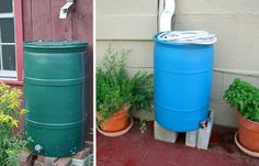 DIY Rain Barrel #diy #garden