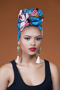 Whether you're looking for a stylish way to keep your hair off your face , this colourful Tchoudi African Print Headwrap is the Solution African American Fashion, African Inspired Fashion, Head Wrap Headband, Head Wrap Scarf, Turbans, African Beauty, African Women, African Head Wraps, Afro Style