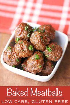 Tasty baked meatball