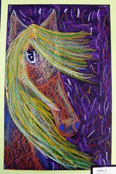 Field Elementary Art Blog!: Brimfield 5th Grade Horses