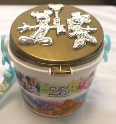 Mickey mouse 25th Anniversary Tokyo Disneyland Popcorn bucket Disney JAPAN F/S #Disney