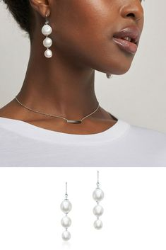 8b63dfa2b Birks Bee Chic ® Freshwater Baroque Pearl And Silver Drop Earrings
