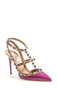 I desperately need these!! :)  Valentino 'Rockstud' T-Strap Pump available at #Nordstrom