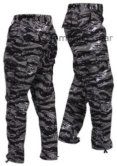 Men s Urban Tiger Stripe Camo BDU Pants - Military Tactical Uniform Style  Pants Men s Urban Tiger 294916b0ff