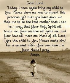 For my step-children and future kids I pray this prayer