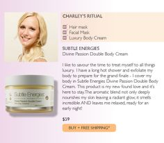 Subtle Energies Divine Passion Double Body Cream - featured in Adore Beauty's Sunday Night Rituals staff feature. Long Hots, Sunday Night, Facial Masks, Interview, Passion, Cream, Products, Face Masks, Creme Caramel