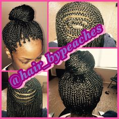 Hair by Peaches - Houston, TX, United States. Crown box braids can be ...