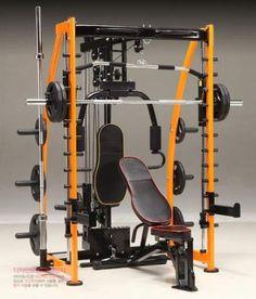 Multi station smith machine rack gym stuff no equipment workout. Gym Weight Machines, Workout Machines, Home Gym Equipment, No Equipment Workout, Fitness Equipment, Fun Workouts, At Home Workouts, Body Workouts, Home Multi Gym