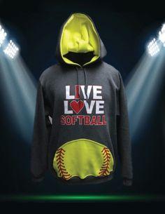 Our gray/ neon green custom softball sweatshirt perfect for… Softball Gifts, Softball Quotes, Softball Pictures, Girls Softball, Softball Players, Fastpitch Softball, Softball Things, Softball Stuff, Baseball Sayings