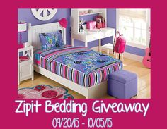 Zipit Bedding Review and Giveaway