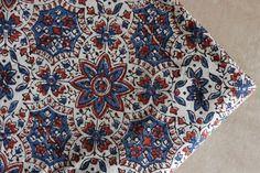Ajrakh Hand Block pint, soft cotton Vegetable Natural Dye, 44'' width, Cotton…