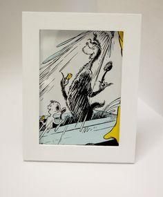 Framed Dr Seuss Illustration  Bathroom Decor by formymulattos, $5.00