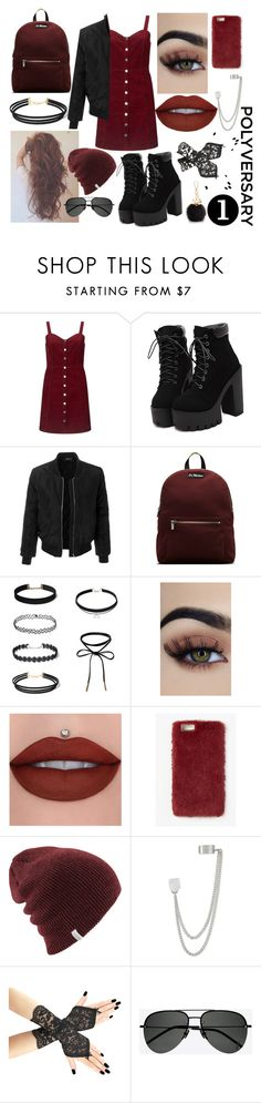 """""""Polyversary!"""" by fami474 ❤ liked on Polyvore featuring Miss Selfridge, LE3NO, Dr. Martens, Missguided, French Connection, Yves Saint Laurent, Furla, polyversary and contestentry"""