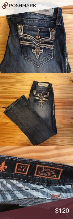 Rock Revival Rock Revival Posey easy boot. Size 27. Inseam 32. Interested in trading for a different pair of Rocks. Rock Revival Jeans Boot Cut