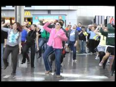Friday, February 3rd, 2012 - Travelers visiting Indianapolis and arriving at IND for Super Bowl weekend were treated to surprise choreograph...