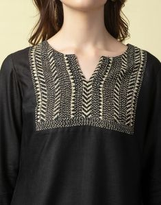 Embroidery Stitches, India, Blouse, Long Sleeve, Sleeves, Cotton, Stuff To Buy, Black, Tops