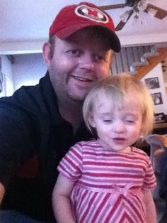 My Oldest with his niece, my youngest Granddaughter, Teagan