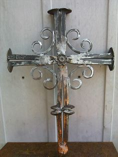 Cross from railroad spikes