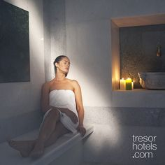 Trésor Hotels and Resorts_Luxury Boutique Hotels_#Greece_ Having received the best reviews, #Ios #Palace #Spa Center deserves to be proud of its premises and its listed services and treatments that are thoroughly carried out by expertly trained therapists. Spa Center, Strapless Dress Formal, Formal Dresses, Steam Room, Boutique Hotels, Massage Therapy, Jacuzzi, Hotels And Resorts, Palace