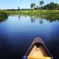 Canoeing on the Bantam River in White Memorial Conservation Center. Litchfield, Connecticut. Photo by Julie Bogen, iPhone 5s.