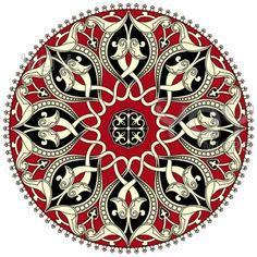 Buy Arabic Circular Pattern by paulrommer on GraphicRiver. Arabic circular pattern over white background in editable vector file Arabic Pattern, Pattern Art, Pattern Design, Motifs Islamiques, Motif Oriental, Islamic Patterns, Turkish Art, Circular Pattern, Tile Art