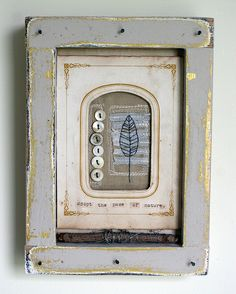 Shadowbox Collage--Adopt the Pace of Nature by Rebecca Sower, via Flickr
