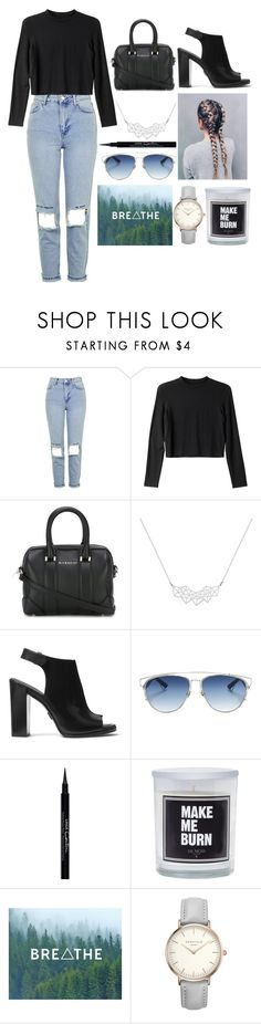 """do not follow the voice of a stranger"" by polysetter-862 ❤ liked on Polyvore featuring Topshop, Monki, Givenchy, A Weathered Penny, Michael Kors and Christian Dior"