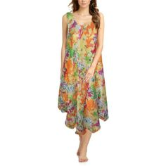 Spring Summer Multicolored Georgette Gown
