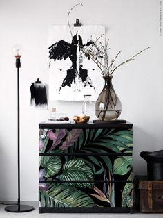 Ikea Malm Makeover mit tropischer Klebefolie