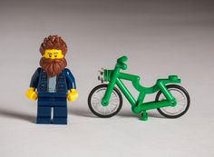 hipster LEGOs bring the bearded + bike-riding to toy form