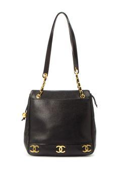 Vintage Chanel Leather Shoulder Bag