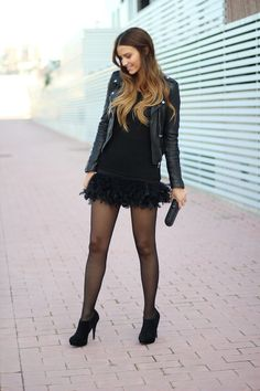 Lady Framboise: Copia el look: Dulceida #fetishpantyhose #pantyhosefetish #legs #heels #blogger #stiletto #pantyhose #black