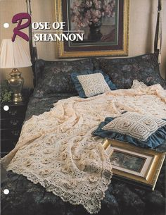 Rose Of Shannon  Annie's Crochet Quilt & by KnitKnacksCreations