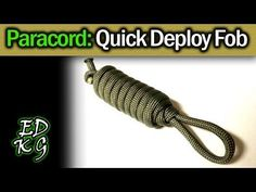 Simple Paracord: Quick Deploy Key Fob (survival or EDC cordage in seconds) - YouTube