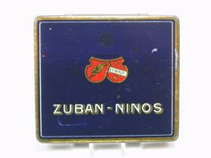 (Henry Collection) WW1 1910s Pocket 20 pcs Cigarettes Tin ZUBAN NINOS