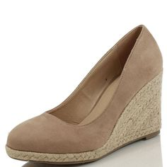For the Monsoon 'Fleur' Taupe Suede Espadrille Wedges