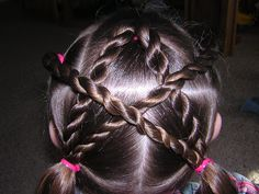 Hairstyles For Girls - Princess Hairstyles (this would be adorable on munchkin's hair)