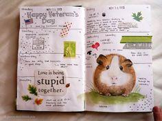 Polar Bear Pages & a Time Lapse Video - Jennys Sketchbook