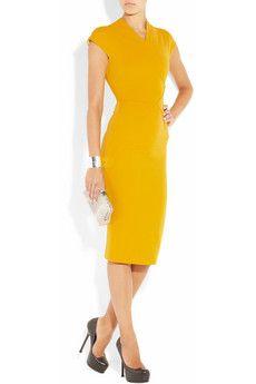 victoria beckham yellow dress