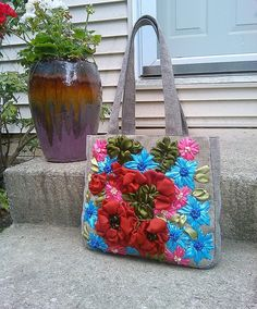 Items similar to Diaper bag/ Messenger bag/Canvas tote/shoulder bag/ Fabric purse/floral tote bag/Hobo Bags/ gift on Etsy Silk Ribbon Embroidery, Embroidery Art, Floral Tote Bags, Flower Bag, Fabric Purses, Canvas Messenger Bag, Ribbon Work, Diaper Bag, Unique Jewelry