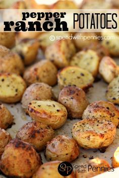 Pepper Ranch Potatoes!  Easy, delicious side dish! #ranch #potatoes
