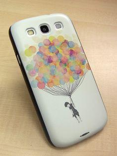 Samsung galaxy s3 case colourful Balloon Hard samsung galaxy s3 Cover. $11.99, via Etsy.