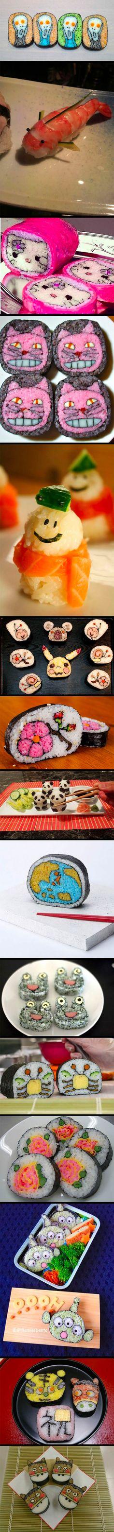 Sushis ultra créatifs
