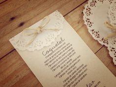 Menu de Casamento Rústico | http://blogdamariafernanda.com/menu-de-casamento-rustico