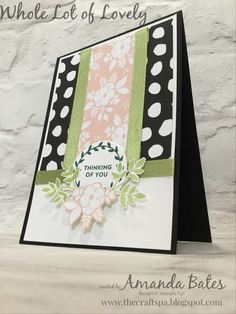Whole Love of Lovely Designer Series Paper #stampinup
