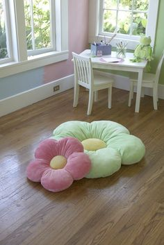 Amazon.com - Girls floor pillow bed as reading nook cushion decorative and soft gifts to make her smile - Childrens Plush Toy Pillows