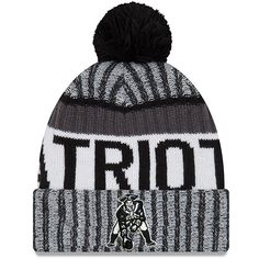 70771215db6 New England Patriots New Era 2017 Sideline Cold Weather Sport Knit Hat -  Black White