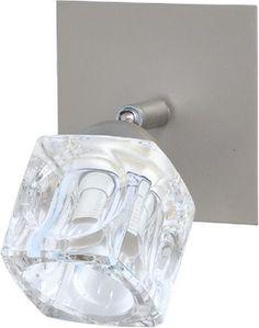 Kinkiet K-1133 - kinkiet z metalu i szkła o kolorze satynowym, wymiary 16/11 cm... http://lampa24.pl/kinkiet-k-1133,3,6345,4824